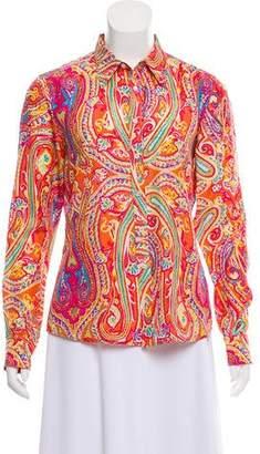 Ralph Lauren Silk Printed Blouse