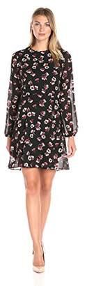 Lark & Ro Women's Blouson Sleeve Flare Dress