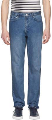 A.P.C. Indigo Baggy Jeans