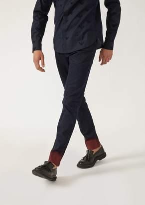 Emporio Armani J06 Slim Fit Fade Denim Jeans With Contrast Hem