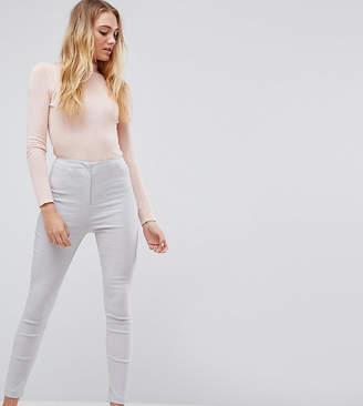 Asos Tall High Waist Trousers In Skinny Fit