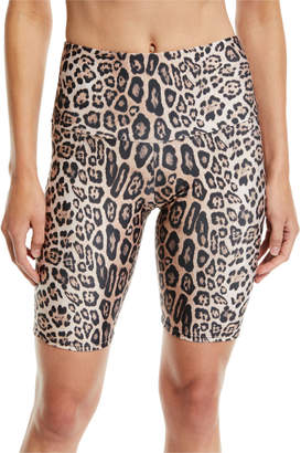 Onzie High-Rise Leopard-Print Activewear Bike Shorts