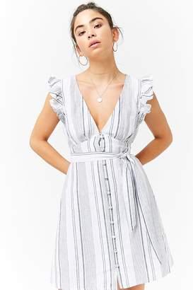 Forever 21 Linen Striped Dress