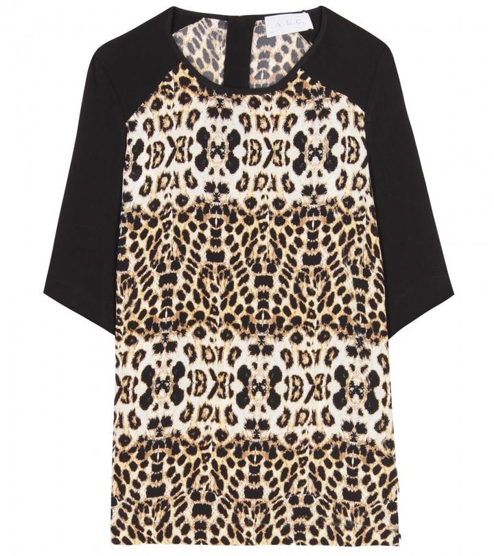 Alc Animal Print Silk Shirt