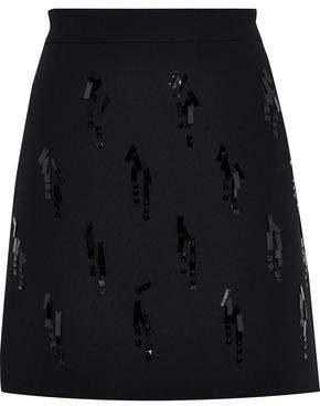 Victoria Victoria Beckham Victoria, Victoria Beckham Sequin-embellished Crepe Mini Skirt