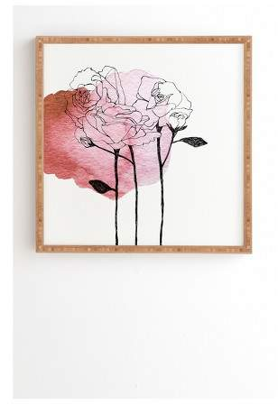 Morgan Kendall garden roses Framed Wall Art