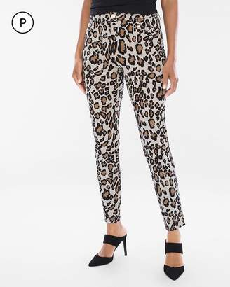 So Slimming Petite Refined Ponte Animal Ankle Pants