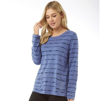 Animal Womens Sea Legs Stripe Long Sleeve T-Shirt Dusty Blue Marl