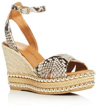Kurt Geiger Women's Amelia Espadrille Platform Wedge Sandals