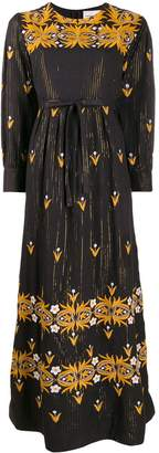 Antik Batik embroidered cotton maxi dress
