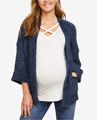 Jessica Simpson Maternity Chenille Open-Front Cardigan