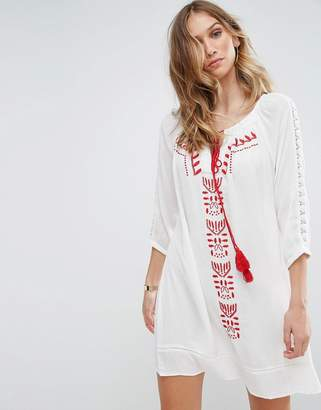 Brave Soul Robina Embroidred Tunic Dress