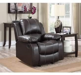 Gordon Motion Dark Brown PU Leather Glider Recliner Chair