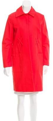 Trademark Open Front Knee-Length Coat