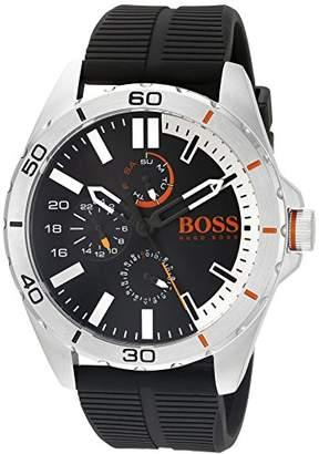 HUGO BOSS BOSS Orange Men's 1513290 Berlin Analog Display Japanese Quartz Black Watch