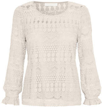 Cream Gina Lace Blouse