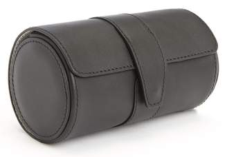 Royce Leather ROYCE Executive Travel Watch Roll in Smooth Genuine Leather with Suede Interior, Fits 2 Watches - Black