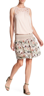 Max Studio Woven Smocked Waist Skirt $78 thestylecure.com