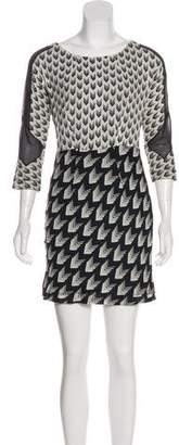 Rag & Bone Printed Silk Mini Dress