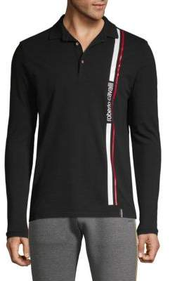 Roberto Cavalli Long Sleeve Logo Polo