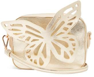Sophia Webster Flossy Butterfly Leather Cross Body Bag - Womens - Gold