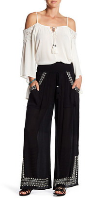 Band of Gypsies Embroidered Wide Leg Pant $64 thestylecure.com