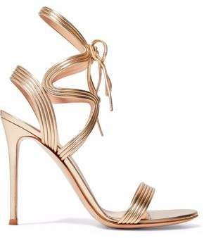 Gianvito Rossi Metallic Leather Sandals