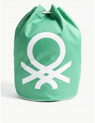 Benetton Unisex logo nylon drawstring bag