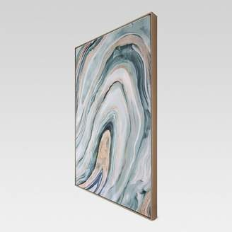 """Project 62 Agate Framed High Gloss Canvas 36""""x24"""" - Project 62"""