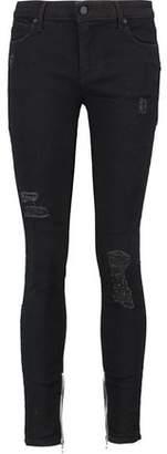 RtA Alexa Distressed High-Rise Skinny Jeans