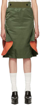 Sacai Green MA-1 Skirt