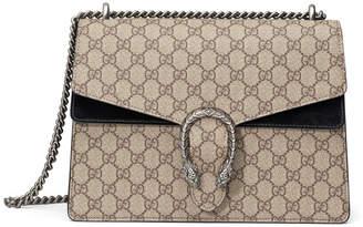 Gucci Dionysus GG Supreme Shoulder Bag, Beige/Ebony/Nero
