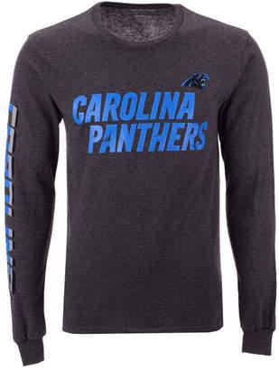 Authentic Nfl Apparel Men Carolina Panthers Streak Route Long Sleeve T-Shirt