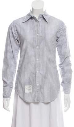 Thom Browne Pin-Stripe Linen Top