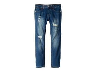 Hudson Jude Skinny French Terry Jeans in Blue Steel (Big Kids)