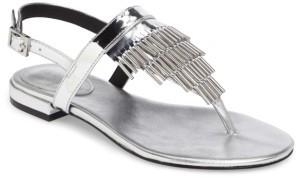 Women's Calvin Klein Evonie Metal-Fringed V-Strap Sandal $128.95 thestylecure.com
