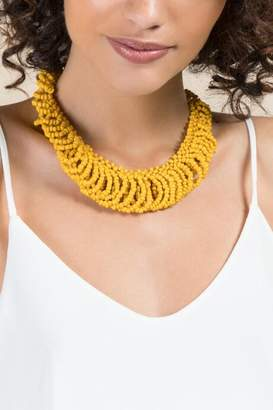 francesca's Marina Statement Necklace in Marigold - Marigold