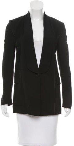 Alexander WangAlexander Wang Silk-Trimmed Shawl Collar Blazer