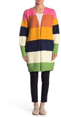 Cliche Colorblock Open Front Cardigan