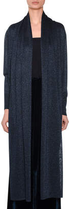 Missoni Open-Front Long-Sleeve Metallic-Knit Cardigan