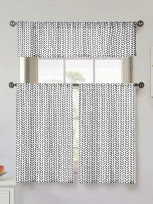 Kensie Filip Cotton Window Tiers (Set of 3)