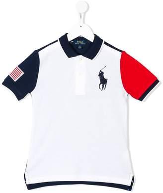 Ralph Lauren colour blocked polo shirt