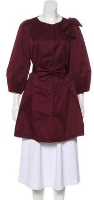 Magnanni Short Sleeve Knee-Length Coat
