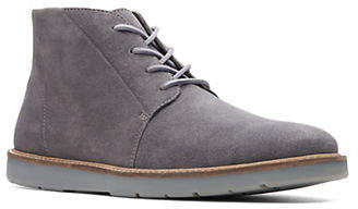 Clarks Suede Lace-Up Low Boots