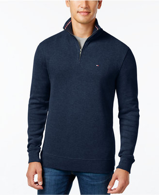 Tommy Hilfiger Men's Big & Tall Ribbed Quarter-Zip Sweater $89.50 thestylecure.com