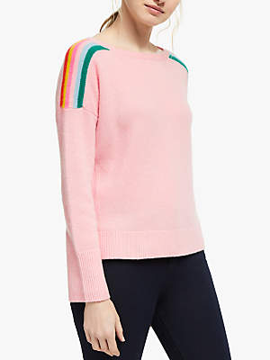 Boden Celia Cashmere Jumper, Light Pink