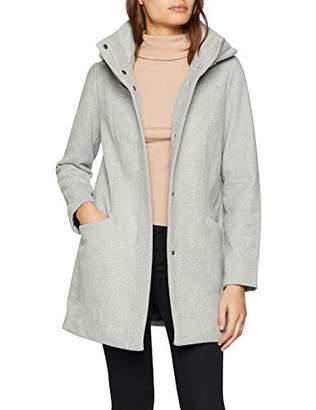 Tom Tailor Women's Klassicher Wollmantel Coat, (Light Silver Grey Mé 10367), Large