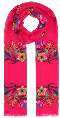 Etro Floral wool and silk scarf