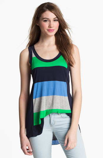 Vince Camuto Two by Rugby Stripe Tank Marina Large