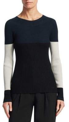 Emporio Armani Ribbed Colorblock Sweater